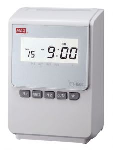 MAX ER-1600 time recorder / clocking in machine